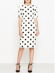 Hobbs Astraea Polka Dot Dress Ivory Black