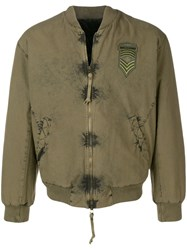 Mr And Mrs Italy Logo Patch Bomber Green