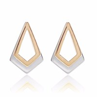 Neola Serenity Rose Gold And Sterling Silver Earrings