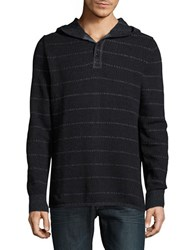 Lucky Brand Hooded Knit Sweater Black
