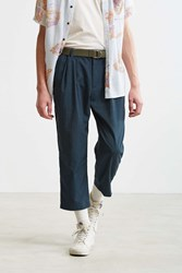 Urban Outfitters Uo Asher Relaxed Cropped Dress Pant Blue