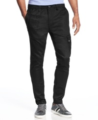 Sean John Slim Fit Coated Jogger Jeans Coated Black