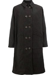 Individual Sentiments Double Breasted Coat Black
