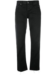 Current Elliott The Crossover Cropped Jeans Black