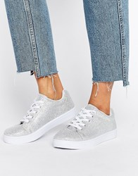 Truffle Collection Simple Trainer Sliver Lurex Silver