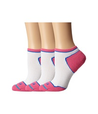 Fits Light Runner Tech Low 3 Pack White Pink Glow Women's Low Cut Socks Shoes