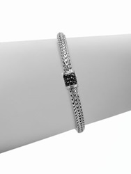 John Hardy Classic Chain Black Sapphire And Sterling Silver Extra Small Bracelet