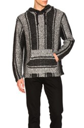Stussy Chunky Knit Drug Rug Sweater In Gray Stripes Gray Stripes