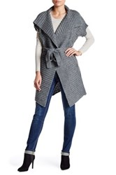 Chaudry Short Sleeve Self Tie Cardigan Gray