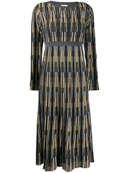 M Missoni Intarsia Knit Dress Grey