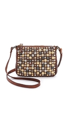 Campomaggi Studded Cross Body Pouch Cognac