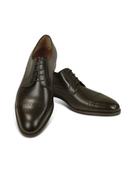 Fratelli Rossetti Dark Brown Calf Leather Cap Toe Oxford Shoes Black