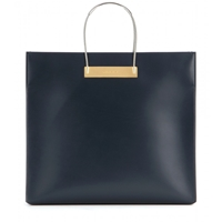 Balenciaga Cable Shopper Medium Leather Bag Encre
