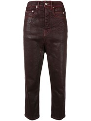 Rick Owens Drkshdw Collapse Cropped Trousers 60