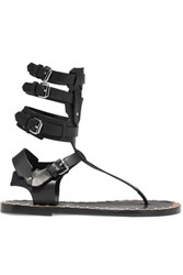 Isabel Marant Jeepy Studded Leather Sandals Black