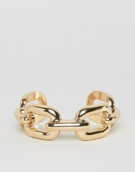 Asos Chunky Chain Cuff Bracelet Gold