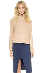 Mason By Michelle Mason Turtleneck Sweater Nude