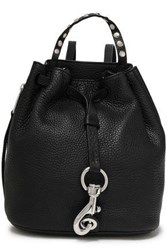 Rebecca Minkoff Woman Studded Pebbled Leather Backpack Black