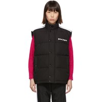 Palm Angels Black Down Track Vest