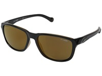 Arnette Straight Cut Black On Amber Brown Mirror Sport Sunglasses