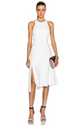Josh Goot Fit And Flare Racer Dress In White