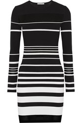 Rebecca Minkoff Groovy Intarsia Knit Cotton Blend Mini Dress Black
