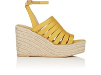 Barneys New York Satin Espadrille Sandals Yellow