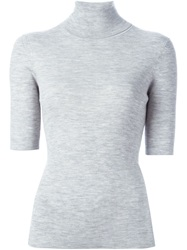 Theory Short Sleeve Sweater Grey