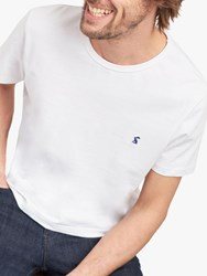 Joules Laundered Crew Neck T Shirt White