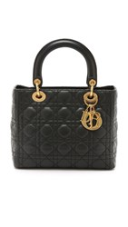 Wgaca What Goes Around Comes Around Small Dior Lady Dior Bag Previously Owned Black