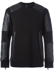 Neil Barrett Quilted Panel Sweatshirt Black