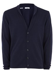 Selected Homme Navy Cardigan With Merino Wool