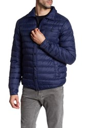 Slate And Stone Light Feather Down Jacket Blue