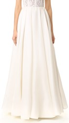 Reem Acra Pleated Ball Skirt Cream