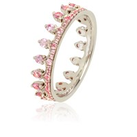 Annoushka Pink Sapphire Crown Ring Silver
