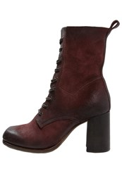A.S.98 Laceup Boots Amaranto Red