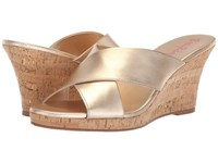 Lilly Pulitzer Selena Slide Gold Metallic Slide Shoes
