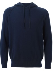 E. Tautz Hooded Sweater Blue