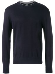 Paul Smith Ps By Crew Neck Sweater Blue
