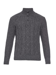 Inis Meain Aran Knit Merino Wool Sweater