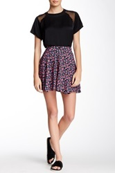 Lucca Couture Floral Print Skater Skirt Multi