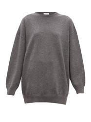Balenciaga Signature Intarsia Cashmere Sweater Grey Multi