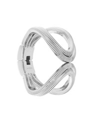 Lara Bohinc Schumacher Double Loop Bracelet Rhodium Plated Brass Metallic