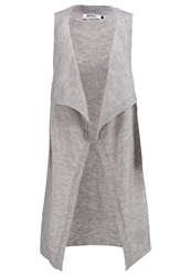 Only Onlnew Milu Waistcoat Light Grey Melange Mottled Light Grey