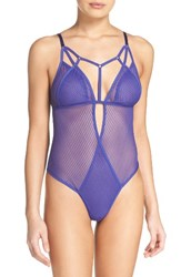 Felina Women's Niki Thong Bodysuit Spectrum Blue