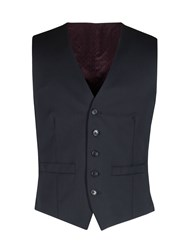 Alexandre Of England Men's Weston Navy Twill Vest Navy