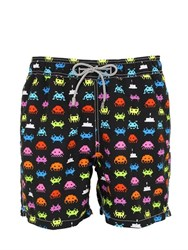 Mc2 Saint Barth Arcade Space Invaders Swim Shorts