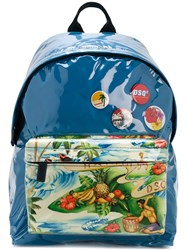 Dsquared2 Exotic Print Backpack Blue