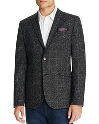 Ted Baker Connery Mouline Check Regular Fit Sport Coat Charcoal