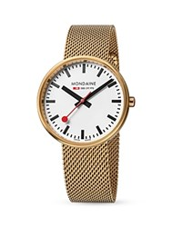 Mondaine Mini Giant Watch 35Mm White